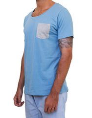 Contrast Tee Blue