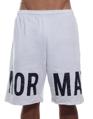 LMT White Oversized Shorts