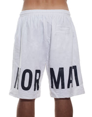 LMT White Oversized Shorts Back