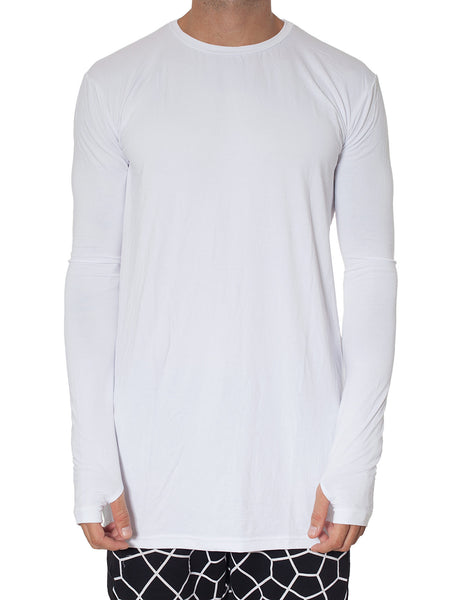 Nemis Super Long-Sleeve White