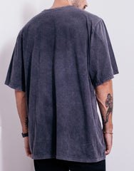 Usual Suspect Oversized Bulls Black Wash Tee Back