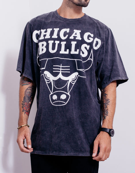 Usual Suspect Oversized Bulls Black Wash Tee