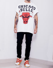 Usual Suspect Oversized Bulls Tee Rolled Sleeves
