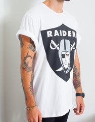 Usual Suspect Oversized Raiders Tee Side