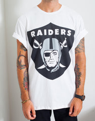 Usual Suspect Oversized Raiders Tee Rolled Sleeves