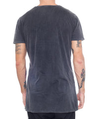 Usual Suspect Mountain Tee Black Wash Back