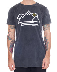Usual Suspect Mountain Tee Black Wash Front