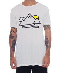 Usual Suspect Mountain Tee White