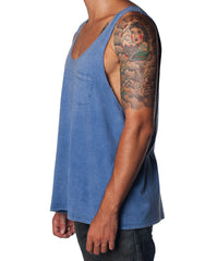 Creature Singlet Blue Wash