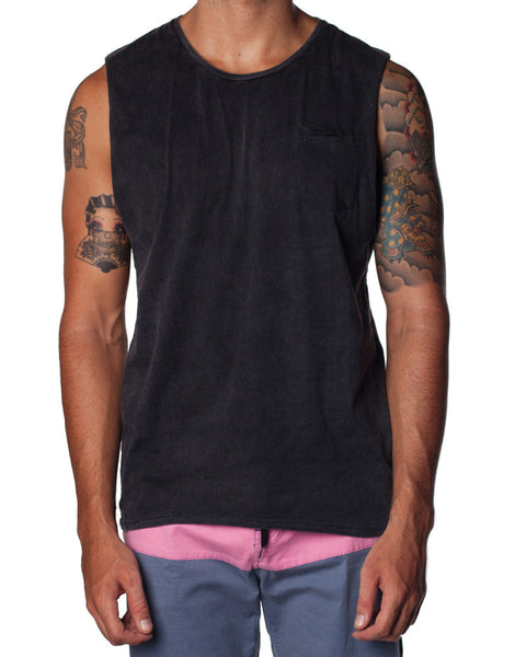 Singlet Tanker Black Wash