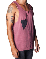 Swing Pocket Singlet Maroon