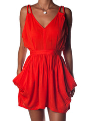 Chelsie Dress Scarlet