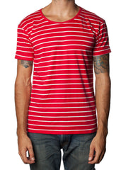 FRANKSLAND Anger Top - Red Striped Mens Tshirt