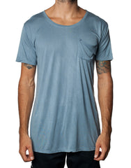 FRANKSLAND Ray's Top Blue - Oversized Blue Mens Tshirt