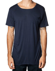 FRANKSLAND Ray's Top Navy - Oversized Navy Mens Tshirt