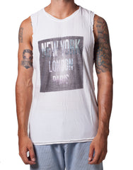 KiD Cities Cutout Tank White
