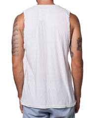 KiD Show Must Go On Cutout Tank White