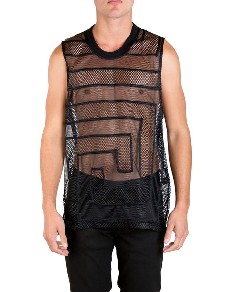 KTZ Greek Ornament Patchwork Vest Black