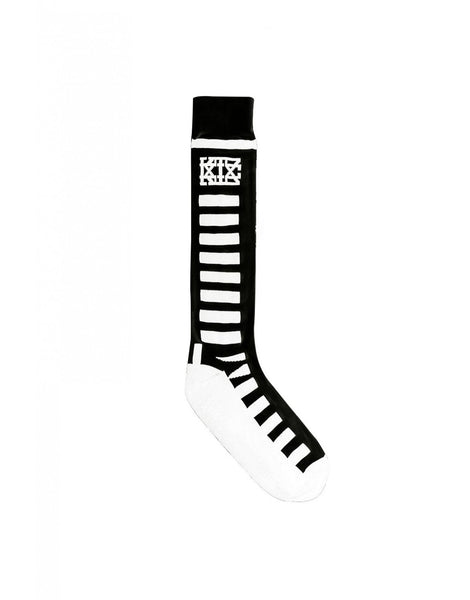 KTZ Socks - Knee Length Rectangular Lines Black