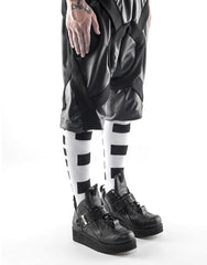 KTZ Knee Length Circular Logo Socks White Side