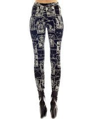 KTZ Tarot Print Leggings Back
