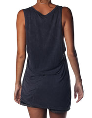 Book Club Singlet Black Wash