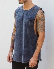Naken Shredding Muscle Tee Charcoal Front