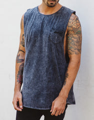 Naken Shredding Muscle Tee Charcoal Main