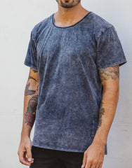 Naken Onyx Tee Black Wash Side
