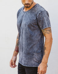 Naken Onyx Tee Black Wash Side 2