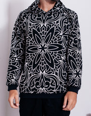 Nemis Abstraction Hoodie Black Front Details