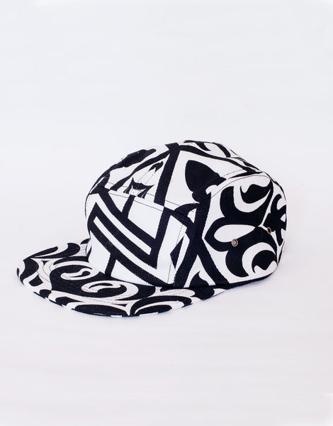 Nemis Arabic Logo Five Panel Hat White