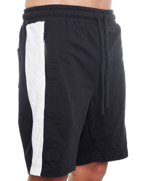 Nemis Black/White Panel Shorts
