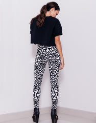Nemis Women Arabic Logo Leggings White Back