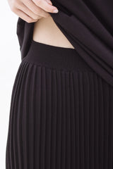 NIKICIO Midi Pleats Skirt Waistband details
