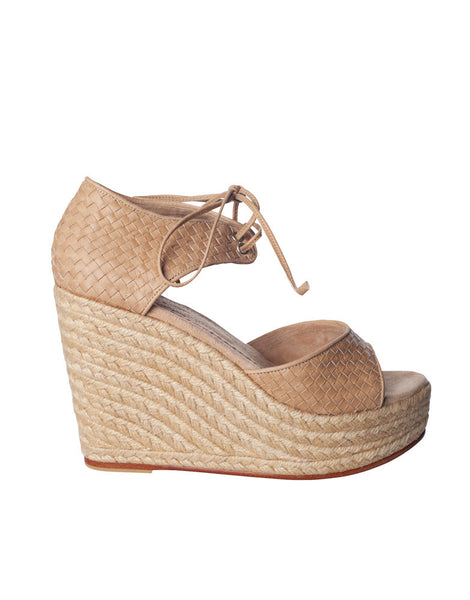 Andrea Wedge Woven Nude
