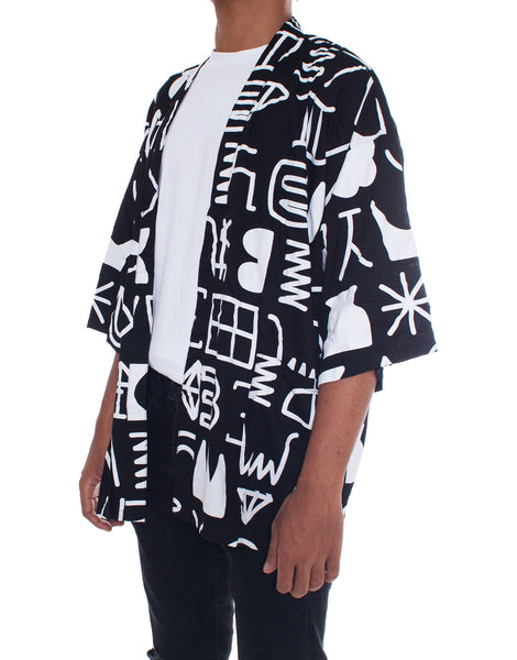 PANTAINANAS Childhood Memories Kimono Black