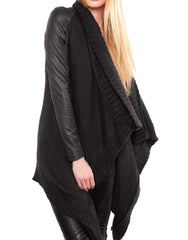 SKINGRAFT Wool Cardigan Black