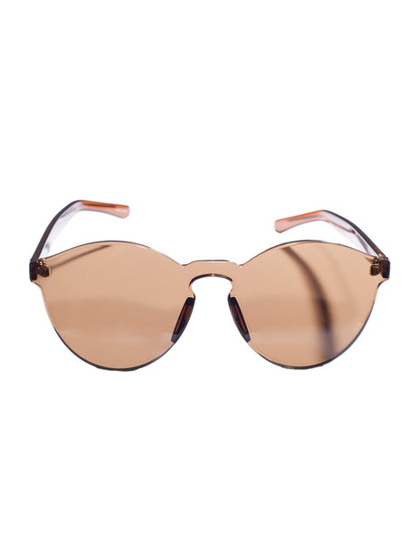 Eighty6 See-Through Chocolate Sunglasses