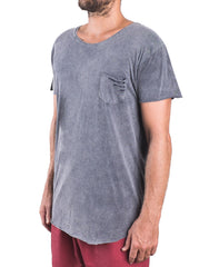Naken Fully Ripping Tee Charcoal Side