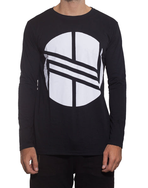 Nemis Long Sleeve Logo Tee Black