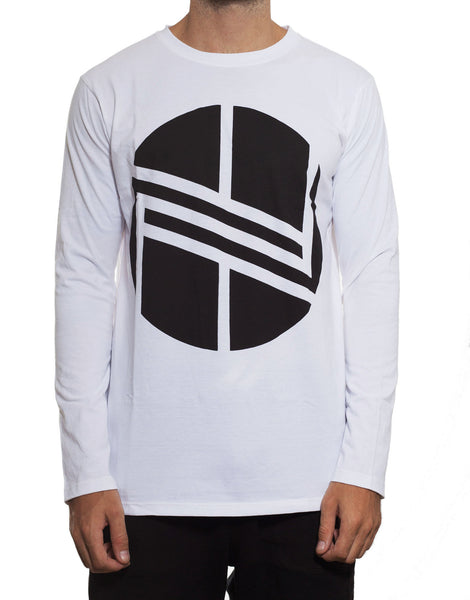 Nemis Long Sleeve Logo Tee White