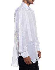 EGR Multi Button Shirt White Side
