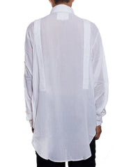 EGR Multi Button Shirt White Back