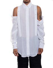 EGR Multi Button Shirt White Unbuttoned