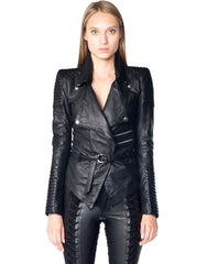 Skingraft Draped Motorcycle Jacket