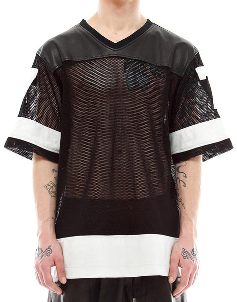 SKINGRAFT Jersey in Leather & Mesh