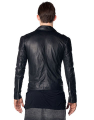 Skingraft Black Motorcycle Jacket Back