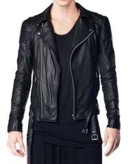 Skingraft Black Motorcycle Jacket Front