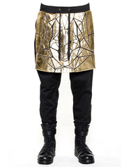 Skingraft Skirted Wolf Panel Pants Gold Front